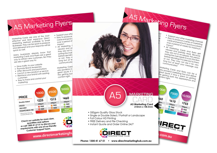 A5 Marketing Cards