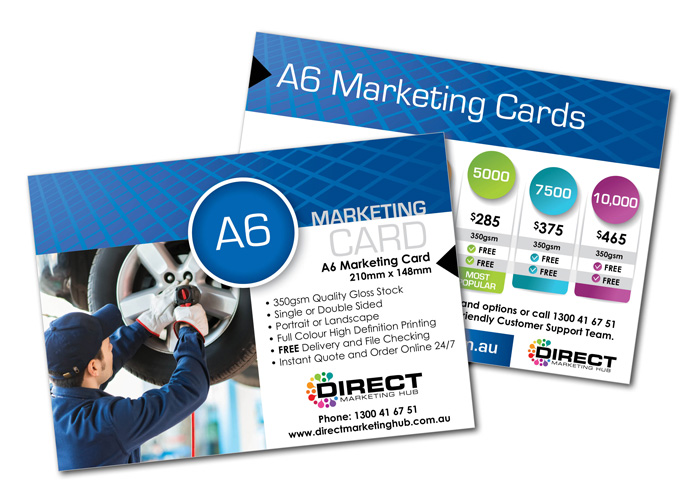 A6 Marketing Cards