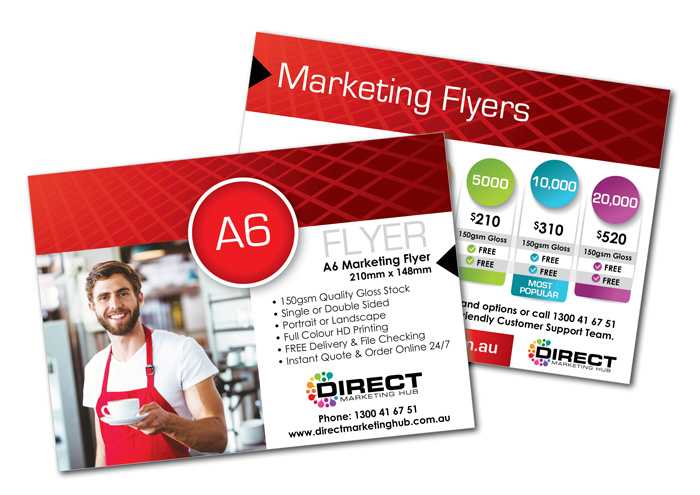 A6 Marketing Flyers